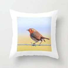 The Red Robin Throw Pillow