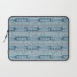 Polynesian Blue Beach Print Laptop Sleeve