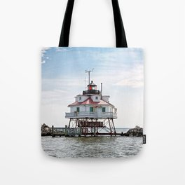 Thomas Point Lighthouse Tote Bag