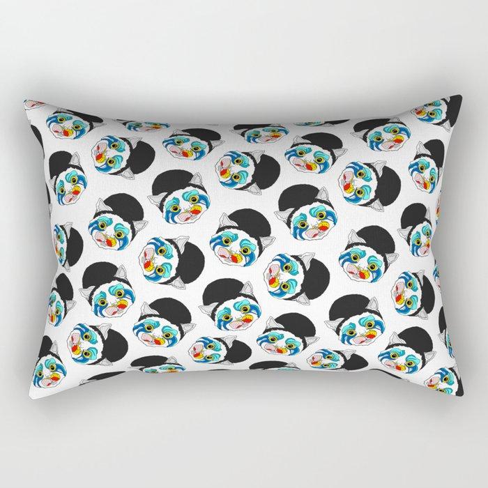 Ga Ga Cat Head Rectangular Pillow