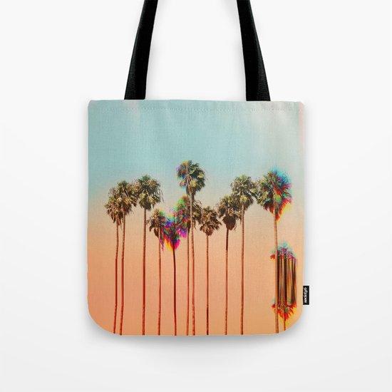 Glitch beach Tote Bag