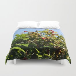 Raspberries reaching for the sky Duvet Cover