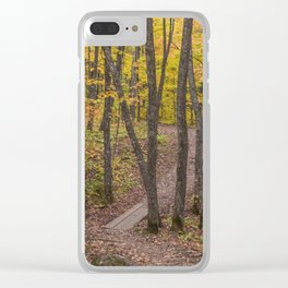 Fall on the Minnesota North Shore's Superior Hiking Trail Clear iPhone Case