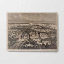 Vintage Pictorial Map of New York City (1840) Metal Print