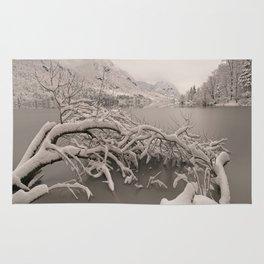 Frozen Lake Bohinj Rug