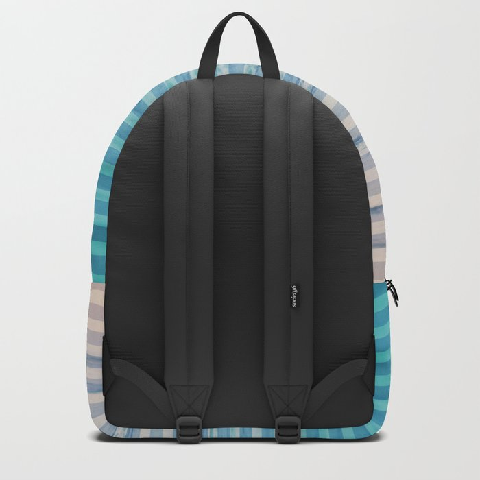 Sunrise Ocean Stripes Backpack