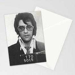 Elvis zigzag mugshot Stationery Cards