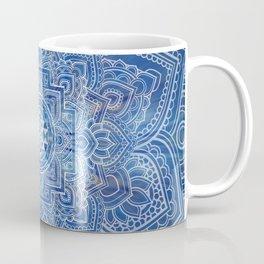 Sri Yantra  / Sri Chakra Blue Watercolor Coffee Mug