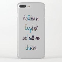 Fairydust Unicorn Clear iPhone Case