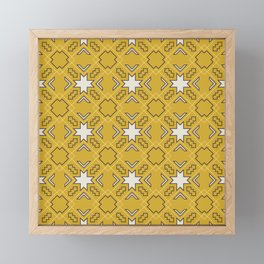 Ethnic pattern in yellow Framed Mini Art Print