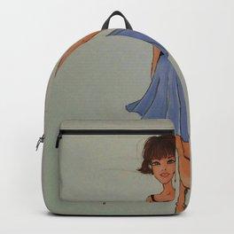 chiffon, blue dress, chiffon dress, cute fashion, fashion sketch, fashion illustration, Backpack