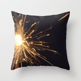 i see sparks Throw Pillow