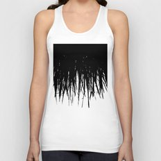 Concrete Fringe Black Unisex Tank Top