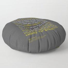 Man in the Arena / Theodore Roosevelt Floor Pillow