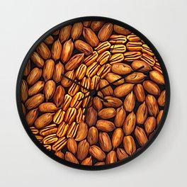 Pecan Swirl Wall Clock