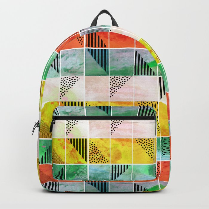 Mosaic Abstract coral Backpack
