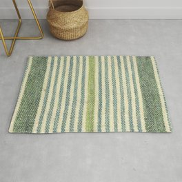 Tonal Green Stripe Rug