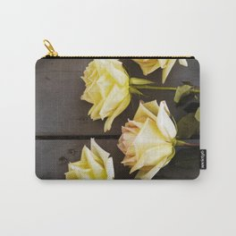 Country Yellow Roses Carry-All Pouch