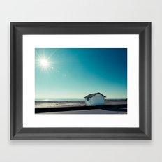 beach cabin Framed Art Print