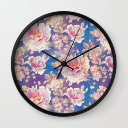 Testing The Flowers. Wall Clock