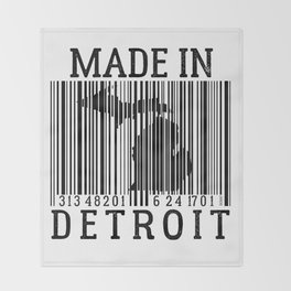 MADE IN DETROIT Bar Code Throw Blanket