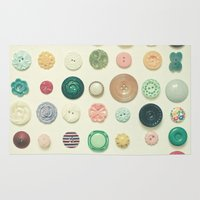 cassia beck Area & Throw Rugs featuring The Button Collection by Cassia Beck