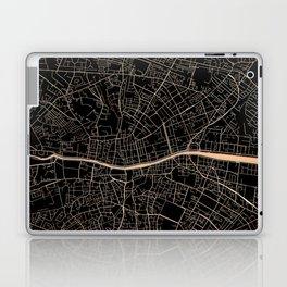 Gold and black Dublin map Laptop & iPad Skin