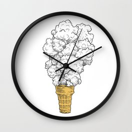 Volcano ice cream Wall Clock