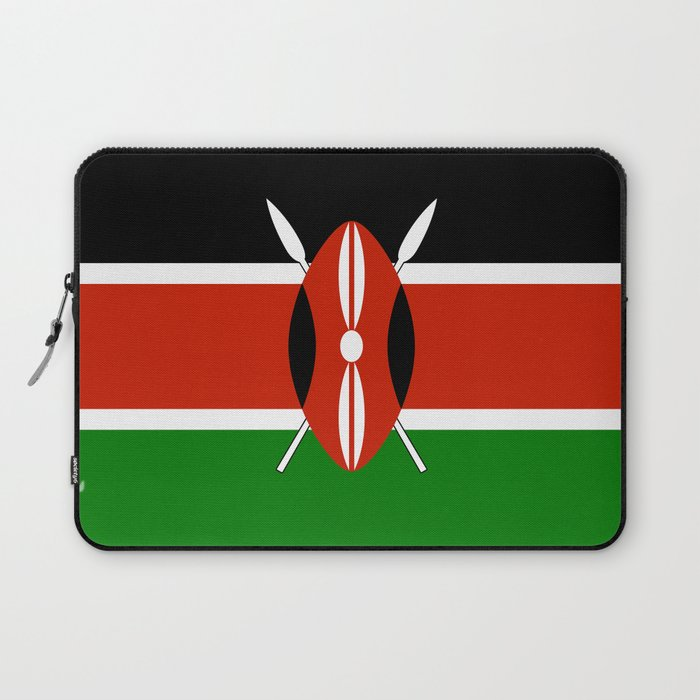 Kenyan national flag - Authentic version Laptop Sleeve