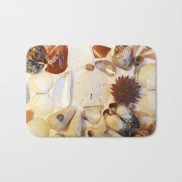 Urchin with Sea Glass and Sand Dollar Bath Mat