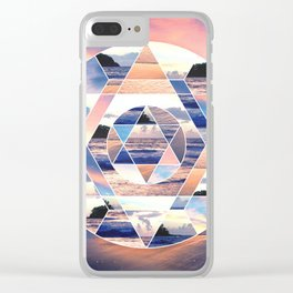 Geometric Ocean Abstract Clear iPhone Case