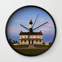 Bodie Island Lighthouse at Sunset Wall Clock