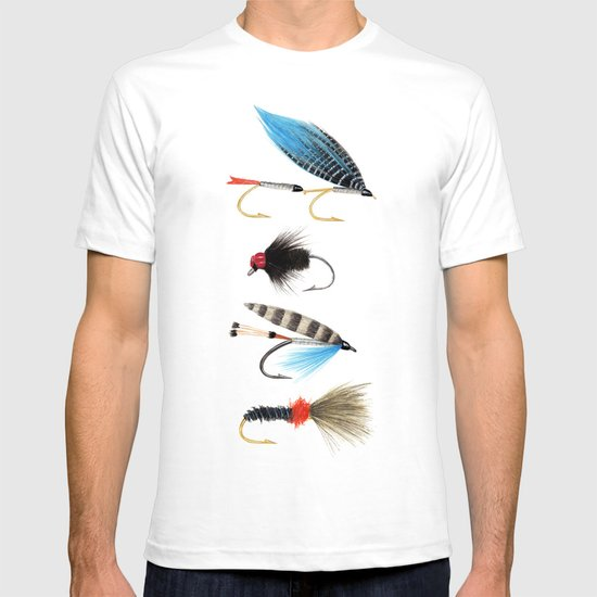 Fly fishing t shirt by trinity mitchell society6 for Fly fishing shirt