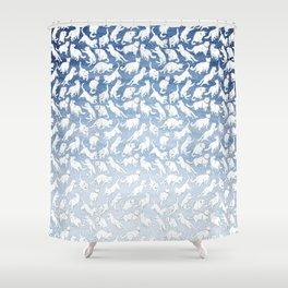 Snow Cat Shower Curtain