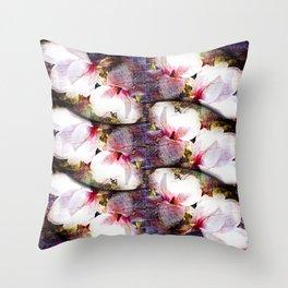 Double White Texture Throw Pillow