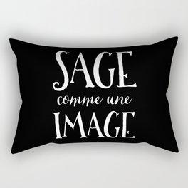Sage Comme Une Image Rectangular Pillow