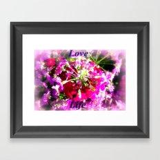 Love Life Framed Art Print