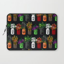 Halloween Mason Jar Bouquets Laptop Sleeve
