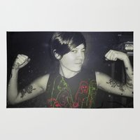 tegan and sara Area & Throw Rugs featuring Tegan by Virginie Le Guen-Bertheaume