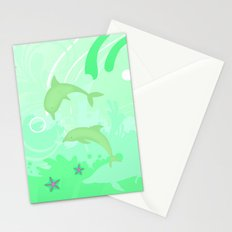 Dolphins Swimming Stationery Cards