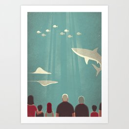 Day Trippers #9 - Aquarium Art Print
