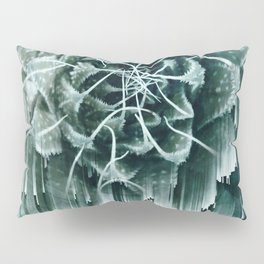 Succulent Glitches Pillow Sham