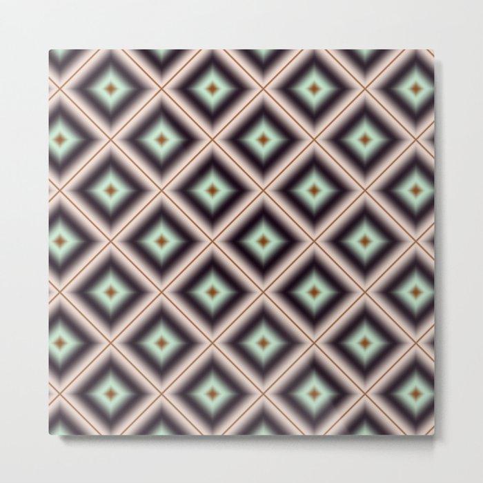 Starry Tiles in BMAP 00 Metal Print