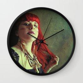 Tribal Bones Girl Wall Clock