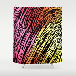 Abstract Mountains Shower Curtain
