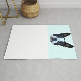 Frenchie / Boston Terrier // Pastel Blue Rug