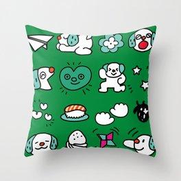 A dog's fun life! Shih Tzu Throw Pillow
