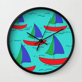 Five Sails Wall Clock