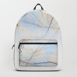 Cotton Latte Marble - Ombre blue and ivory Backpack