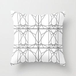 Grey Web 1 Throw Pillow